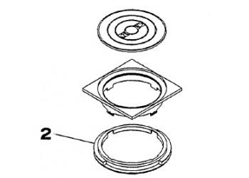 Teleszkópos gyűrű a szkimmerfedél alatt